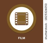 film flat icon   simple  vector ...