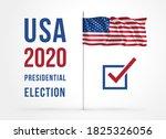 us presidential election 2020.... | Shutterstock .eps vector #1825326056