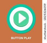 button play flat icon   simple  ...