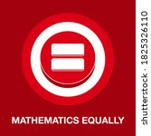 mathematics equally flat icon   ...