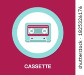 cassette flat icon   simple ...