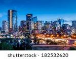 Calgary Skyline At Night With...