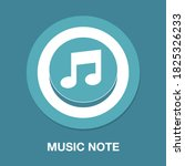 music note flat icon   simple ...