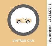 vintage convertible car icon  ...