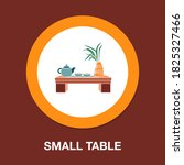 small table flat icon   simple  ...
