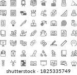 thin outline vector icon set...   Shutterstock .eps vector #1825335749
