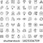 thin outline vector icon set... | Shutterstock .eps vector #1825336709