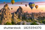 Colorful Hot Air Balloon Flying ...