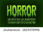 horror alphabet font. messy... | Shutterstock .eps vector #1825370996
