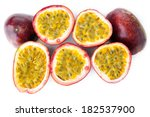 half of passion fruit on white... | Shutterstock . vector #182537900