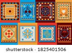mexican colored frames set... | Shutterstock .eps vector #1825401506