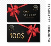gift voucher template isolated. ... | Shutterstock .eps vector #1825409156