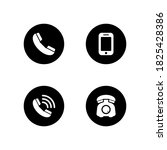 phone set icon vector  symbol... | Shutterstock .eps vector #1825428386