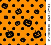 black polka dots with spooky... | Shutterstock .eps vector #1825429466