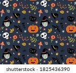 funny pattern for halloween... | Shutterstock .eps vector #1825436390