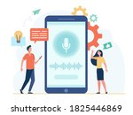people with mobile phone using... | Shutterstock .eps vector #1825446869