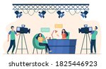 videographers shooting... | Shutterstock .eps vector #1825446923