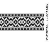 stripe ethnic seamless pattern... | Shutterstock .eps vector #1825455389