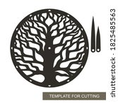 round dial with decorative tree ... | Shutterstock .eps vector #1825485563