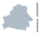 belarus map   vector pixel... | Shutterstock .eps vector #1825506389