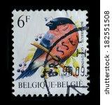 belgium   circa 1988   postage... | Shutterstock . vector #182551508