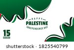 happy palestine independence...   Shutterstock .eps vector #1825540799