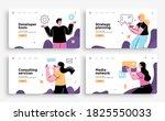 set of presentation slide...   Shutterstock .eps vector #1825550033