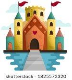 fairytale castle for princess   ... | Shutterstock .eps vector #1825572320