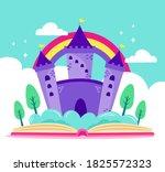 fairytale castle for princess   ... | Shutterstock .eps vector #1825572323