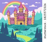 fairytale castle for princess   ... | Shutterstock .eps vector #1825572326