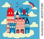 fairytale castle for princess   ... | Shutterstock .eps vector #1825572380