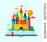 fairytale castle for princess ... | Shutterstock .eps vector #1825572413