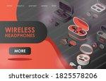 wireless headphones vector flat ... | Shutterstock .eps vector #1825578206