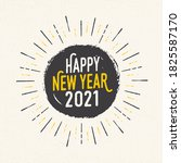 handmade style greeting card  ... | Shutterstock .eps vector #1825587170