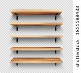 realistic empty wooden store... | Shutterstock .eps vector #1825588433