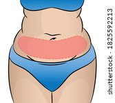 woman fat abdomen with selected ... | Shutterstock .eps vector #1825592213