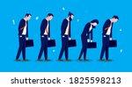 tired businesspeople   five men ... | Shutterstock .eps vector #1825598213