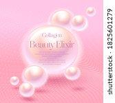 collagen. beauty elixir. label... | Shutterstock .eps vector #1825601279
