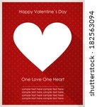 valentine s day card with heart | Shutterstock .eps vector #182563094