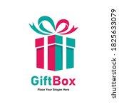 gift box present vector logo... | Shutterstock .eps vector #1825633079