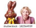 Chocolate Easter Bunny And A...