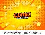 pop art comic background with... | Shutterstock .eps vector #1825650539