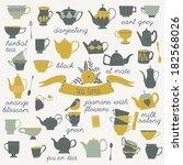 tea time | Shutterstock .eps vector #182568026