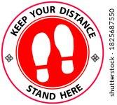 footprint floor sticker  foot...   Shutterstock .eps vector #1825687550