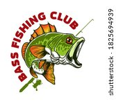 bass fishing club. illustration ...   Shutterstock .eps vector #1825694939