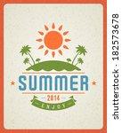 summer vector typography poster ... | Shutterstock .eps vector #182573678