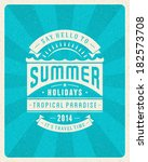 summer vector typography poster ... | Shutterstock .eps vector #182573708
