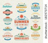 summer holidays design elements ... | Shutterstock .eps vector #182573714