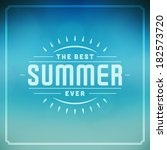 summer vector typography.... | Shutterstock .eps vector #182573720