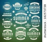 summer holidays design elements ... | Shutterstock .eps vector #182573738